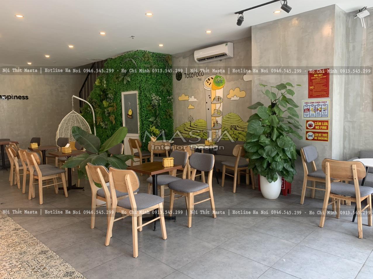 Thiết kế quán trà sữa mang phong cách hiện đại