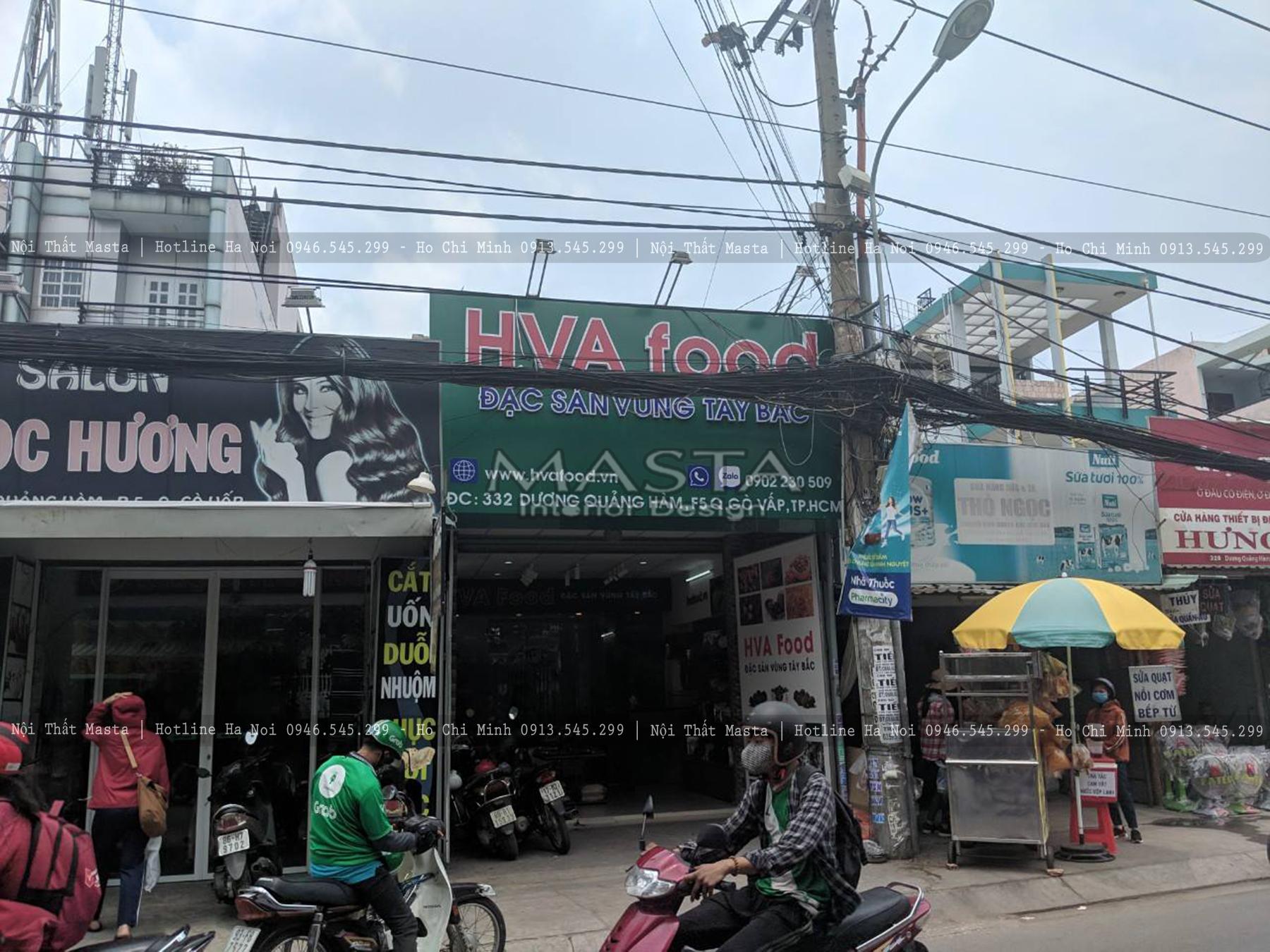Ảnh thực tế của mặt tiền cửa hàng thực phẩm HVAfood