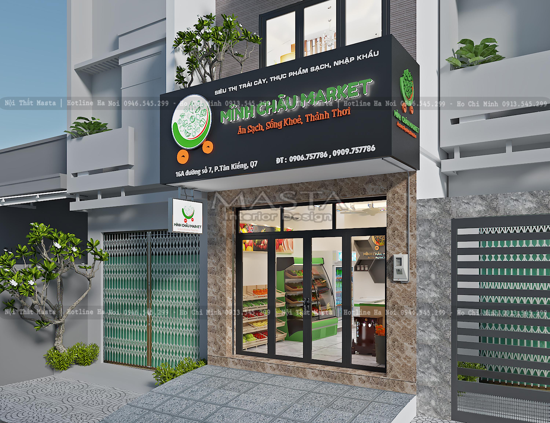 Thiết kế Cửa hàng thực phẩm Minh Châu
