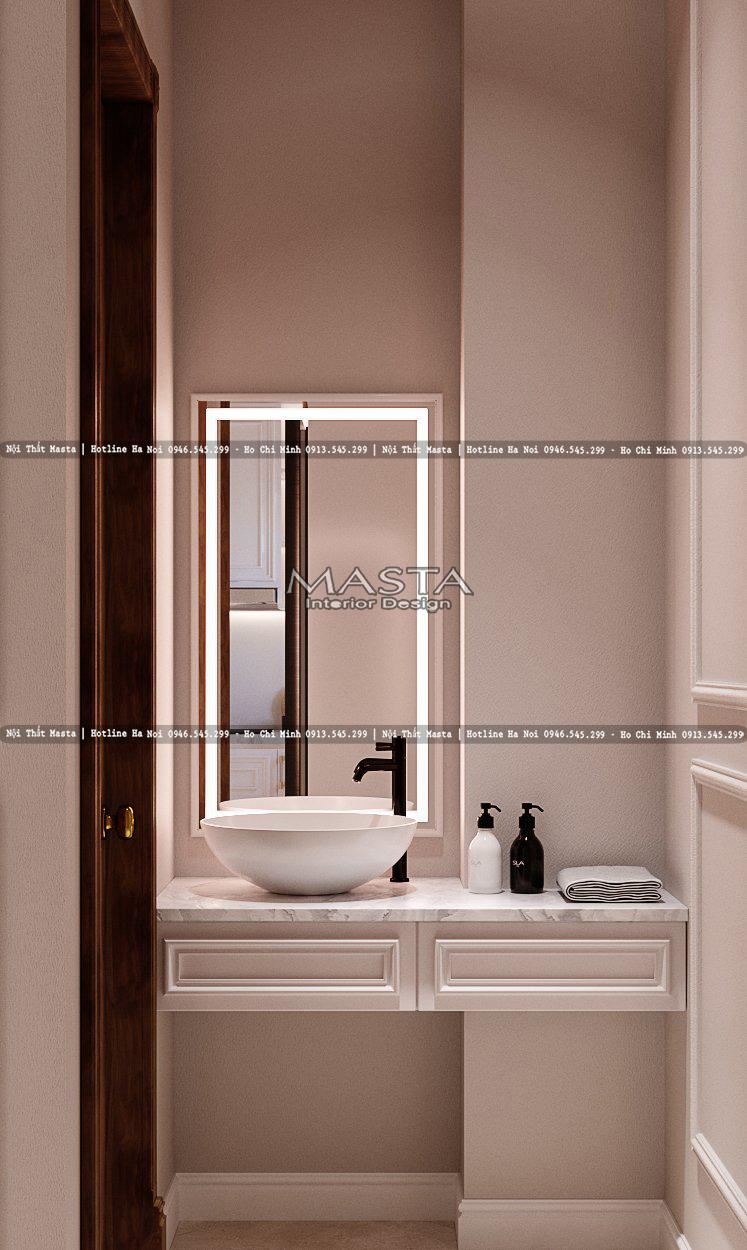 Thiết kế tối giản trong phòng tắm
