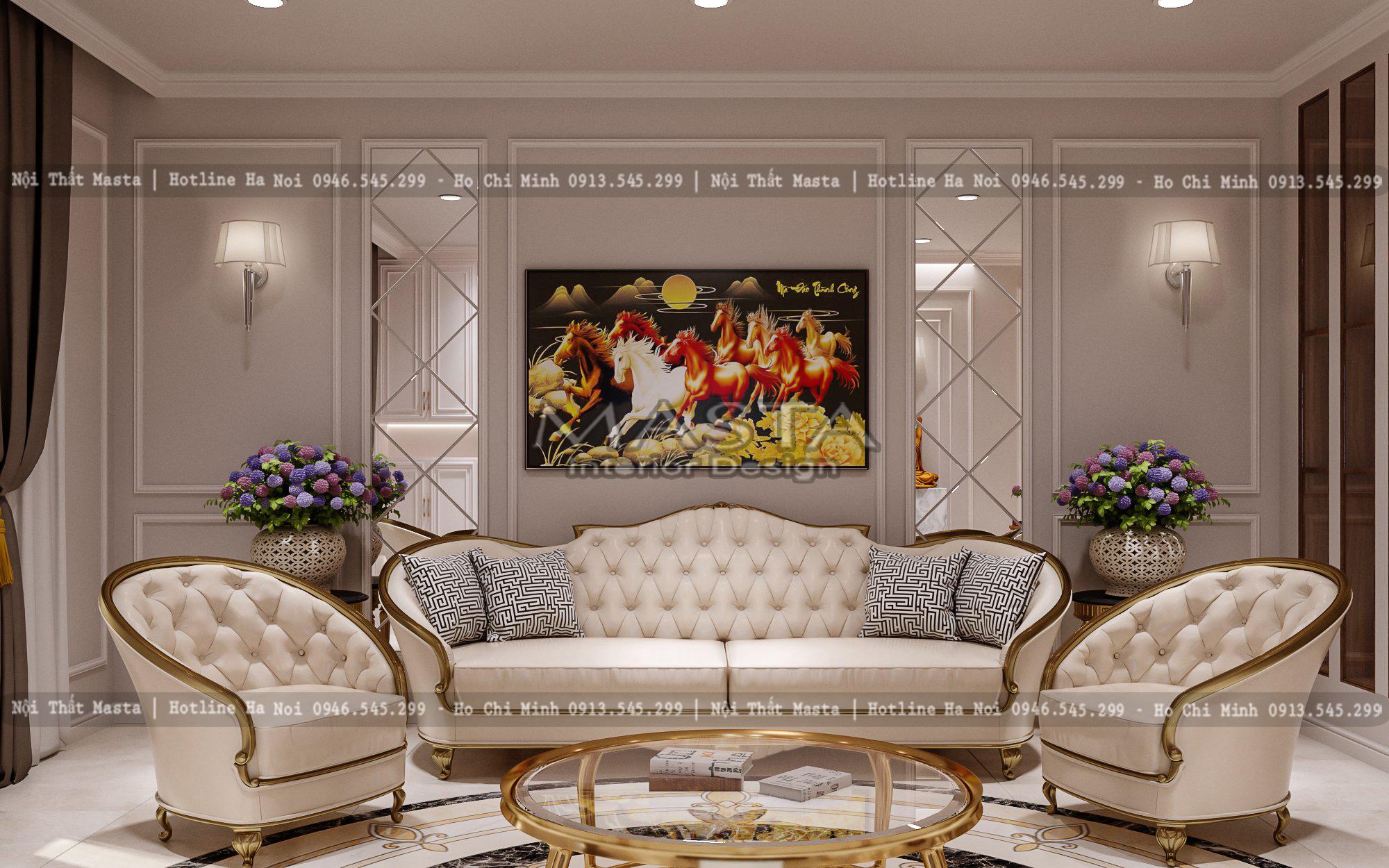 Sự sang trọng tại trong thiết kế phòng khách