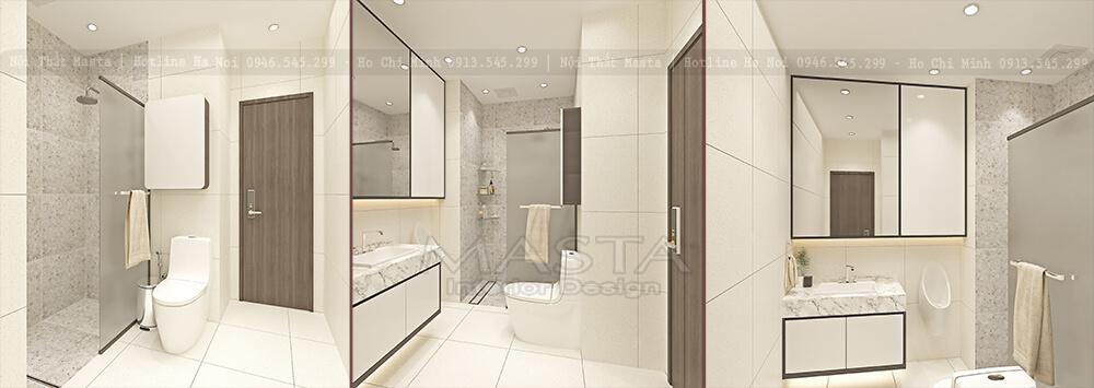 Nội thất nhà vệ sinh trong phòng ngủ Huy Trang