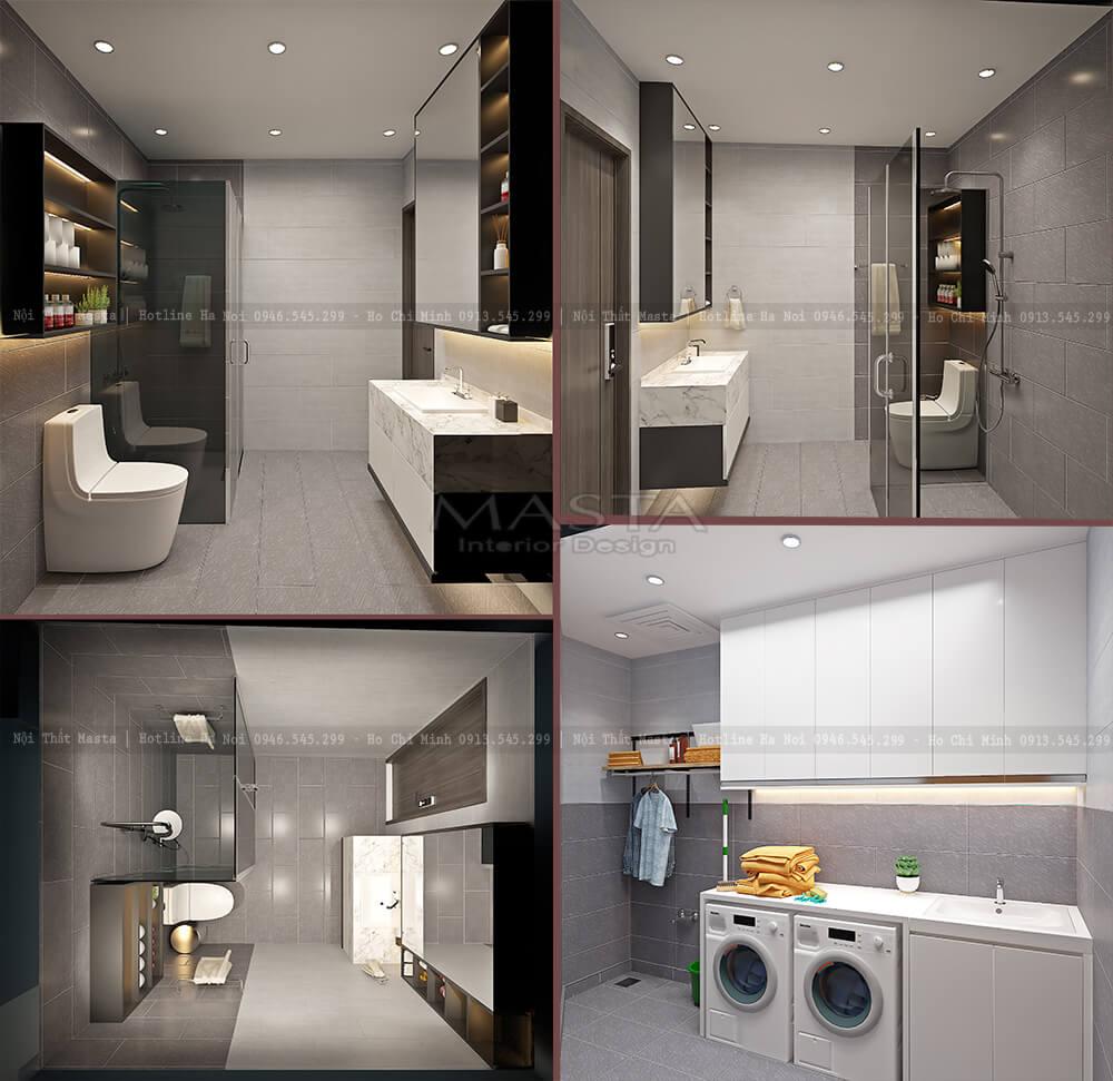 Không gian phòng giặt đồ của gia đình chú Hòa