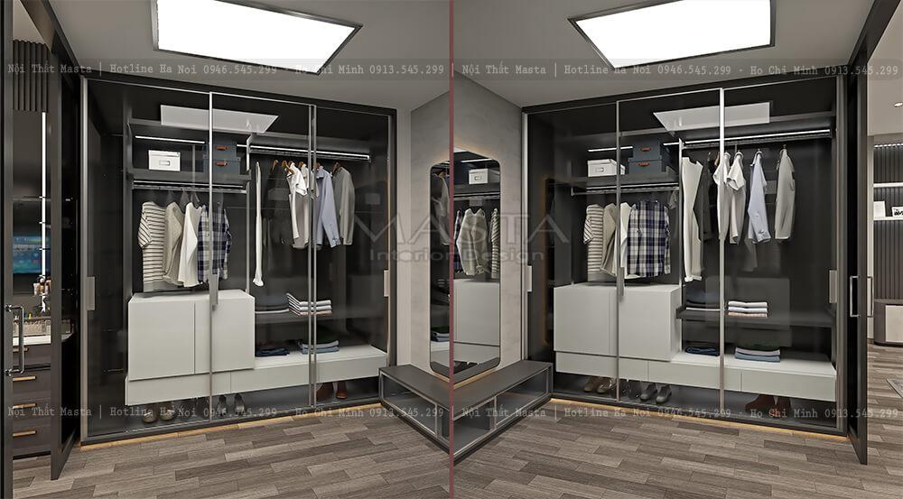 Thiết kế tủ quần áo ấn tượng, đẹp mắt