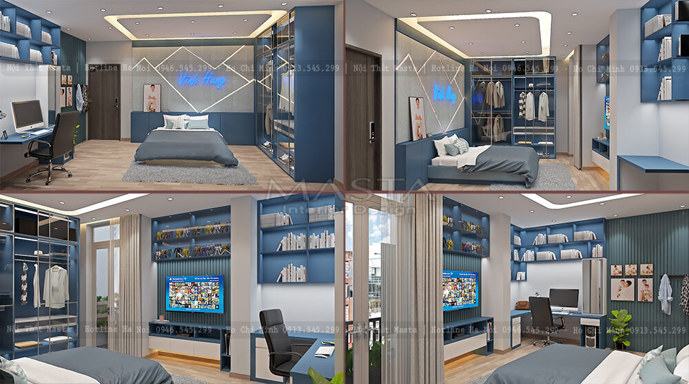 Nội thất phòng ngủ bé Vĩnh Huy