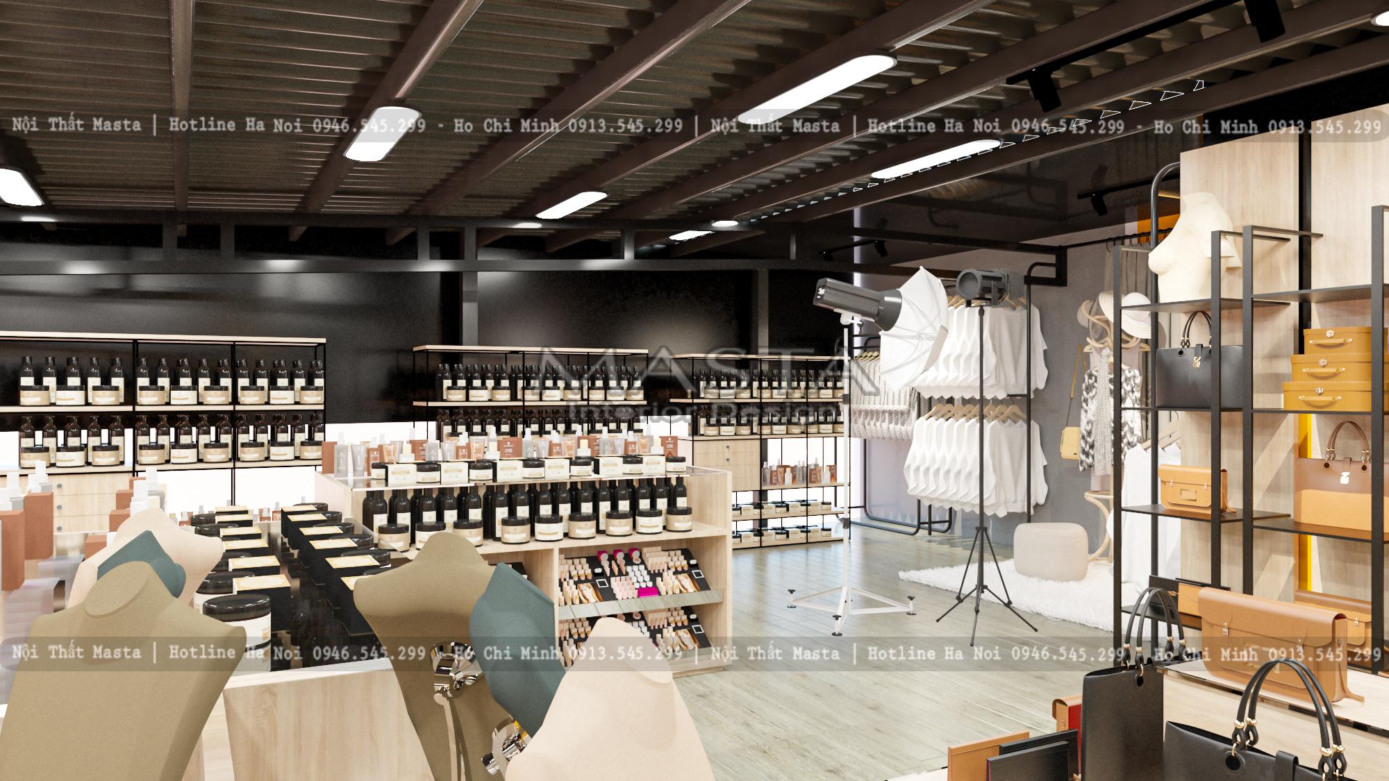 Cận cảnh thiết kế nội thất shop thời trang