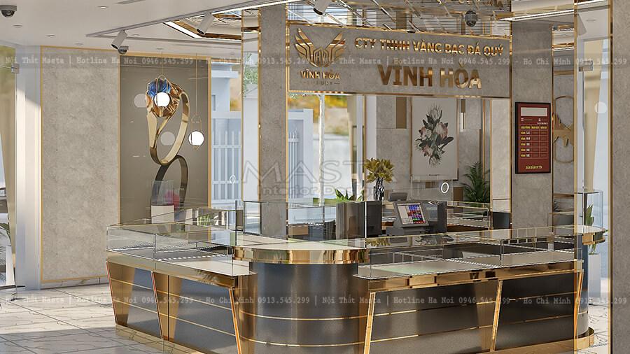 Thiết kế nội thất tiệm vàng Vĩnh Hòa theo phong cách Luxury