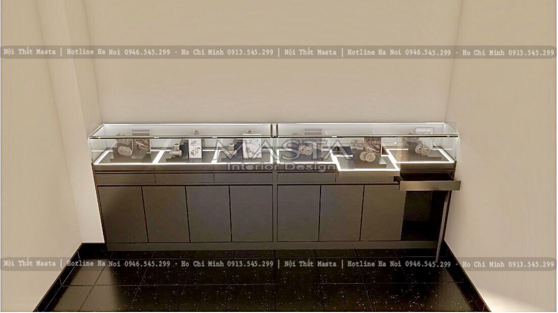 Tủ trưng bày có thiết kế phân tầng