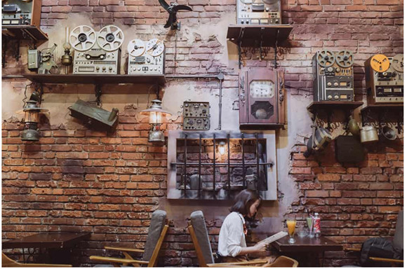 Thiết kế quán trà sữa theo phong cách tân cổ điển