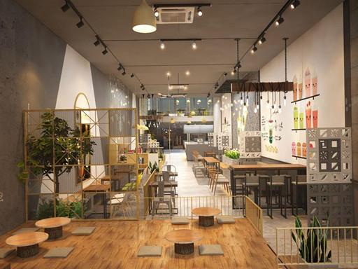 Tiệm trà sữa kết lựa chọn nội thất đa dạng và linh hoạt