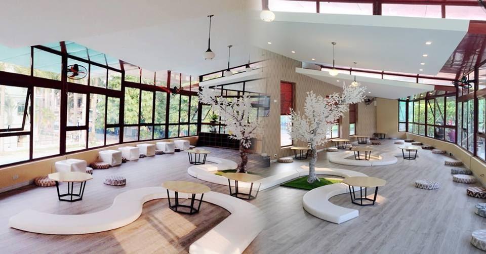 Không gian rộng rãi trong quán trà sữa bệt