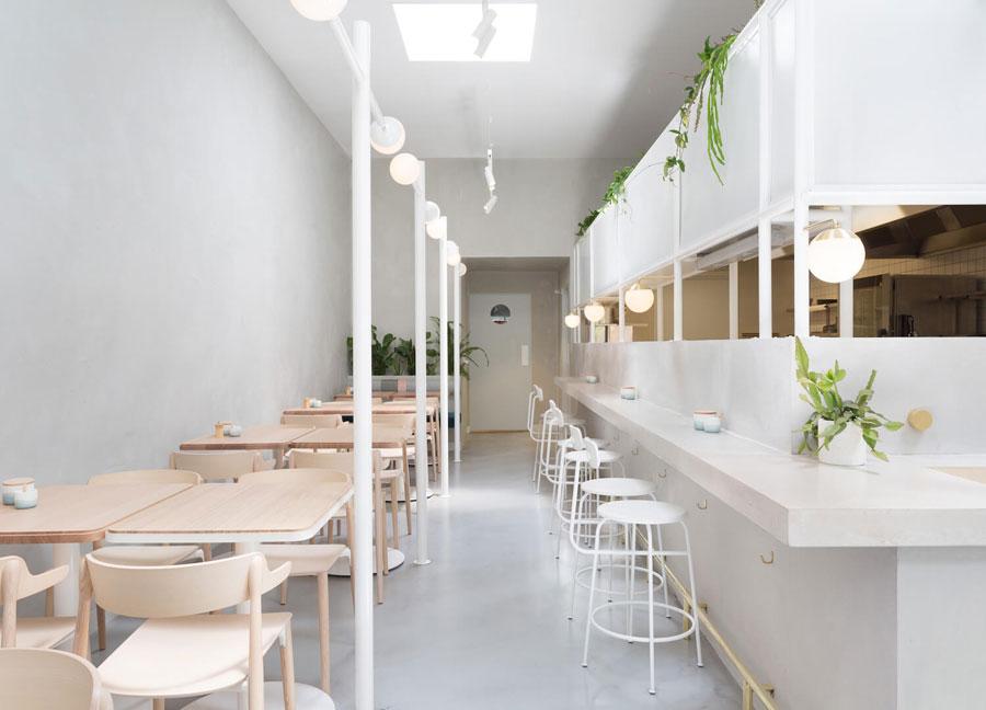 Mẫu thiết kế quán trà sữa đơn giản