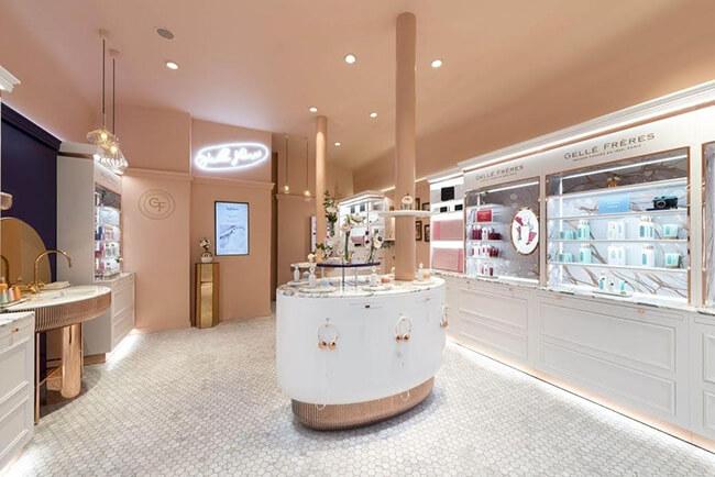 Thiết kế shop mỹ phẩm đẹp giúp xây dựng thương hiệu