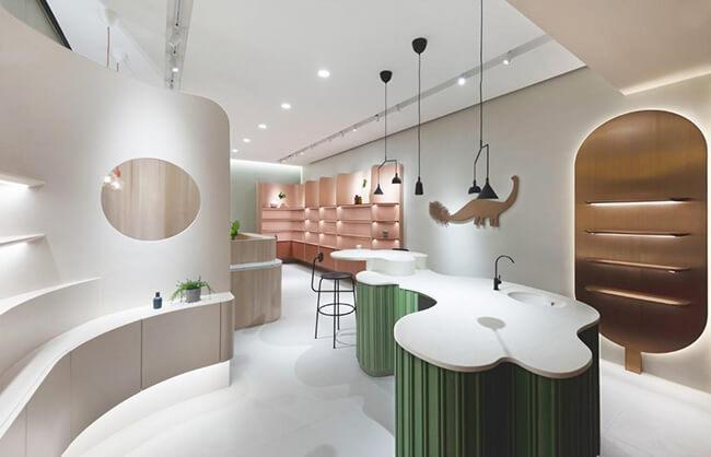 Không gian sáng tạo với thiết kế nội thất shop mỹ phẩm ấn tượng